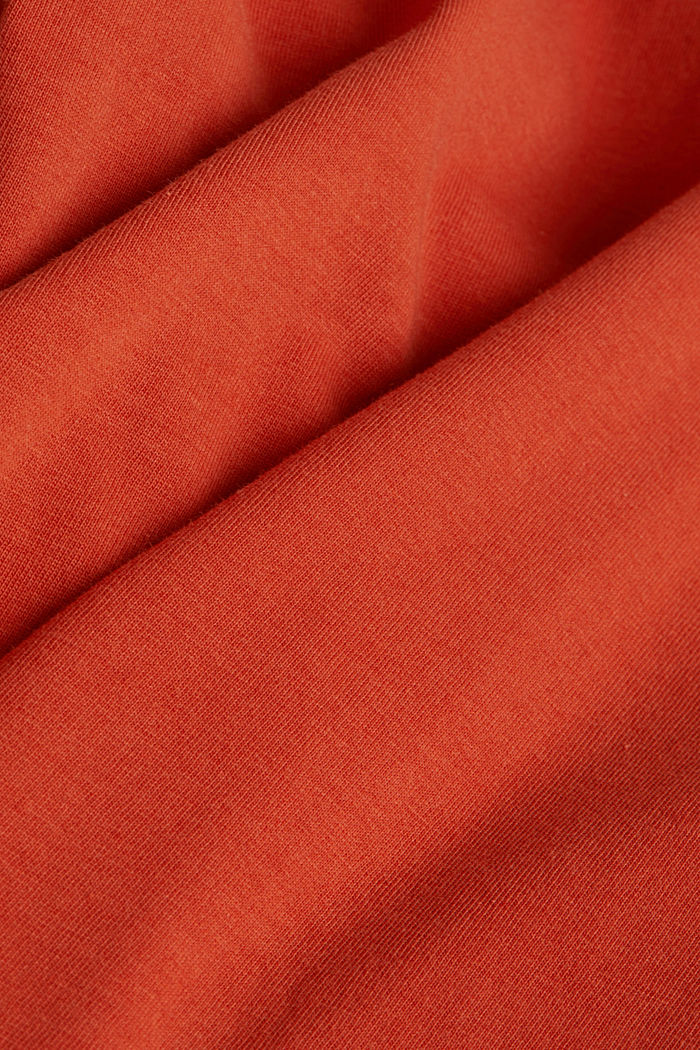 Jersey top made of 100% organic cotton, BURNT ORANGE, detail image number 4