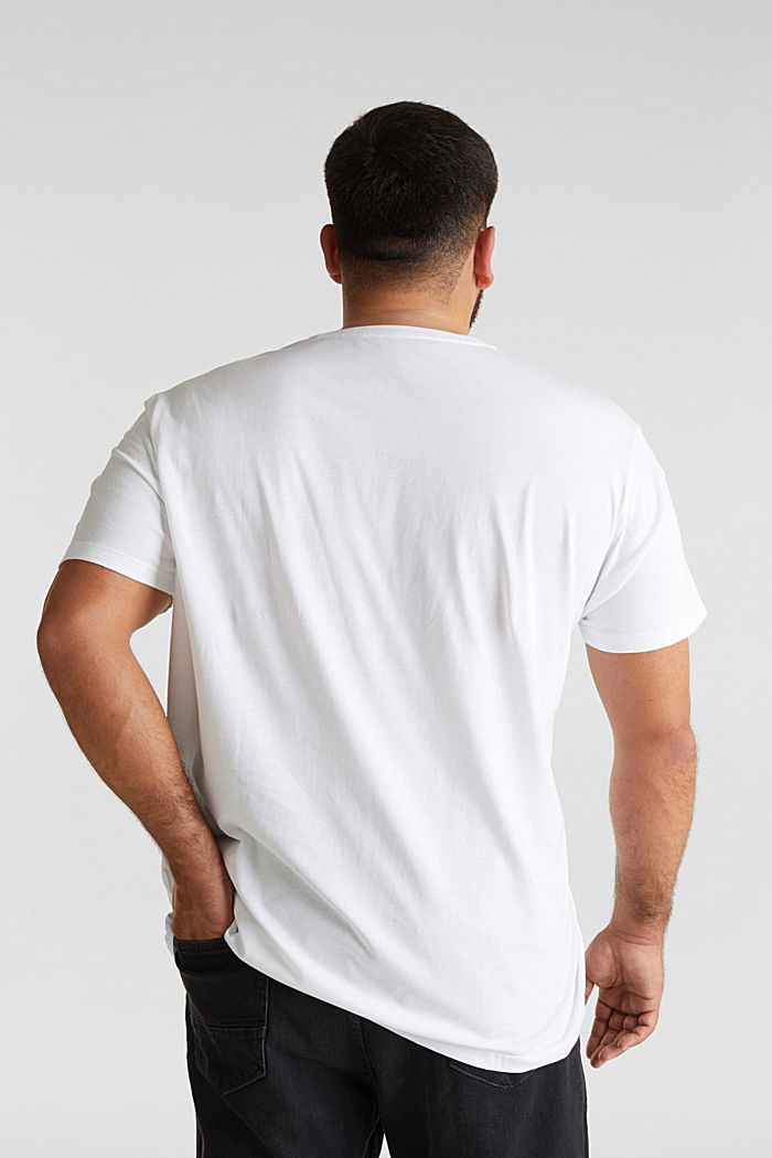 Double pack of T-shirts, 100% organic cotton, WHITE, detail image number 3
