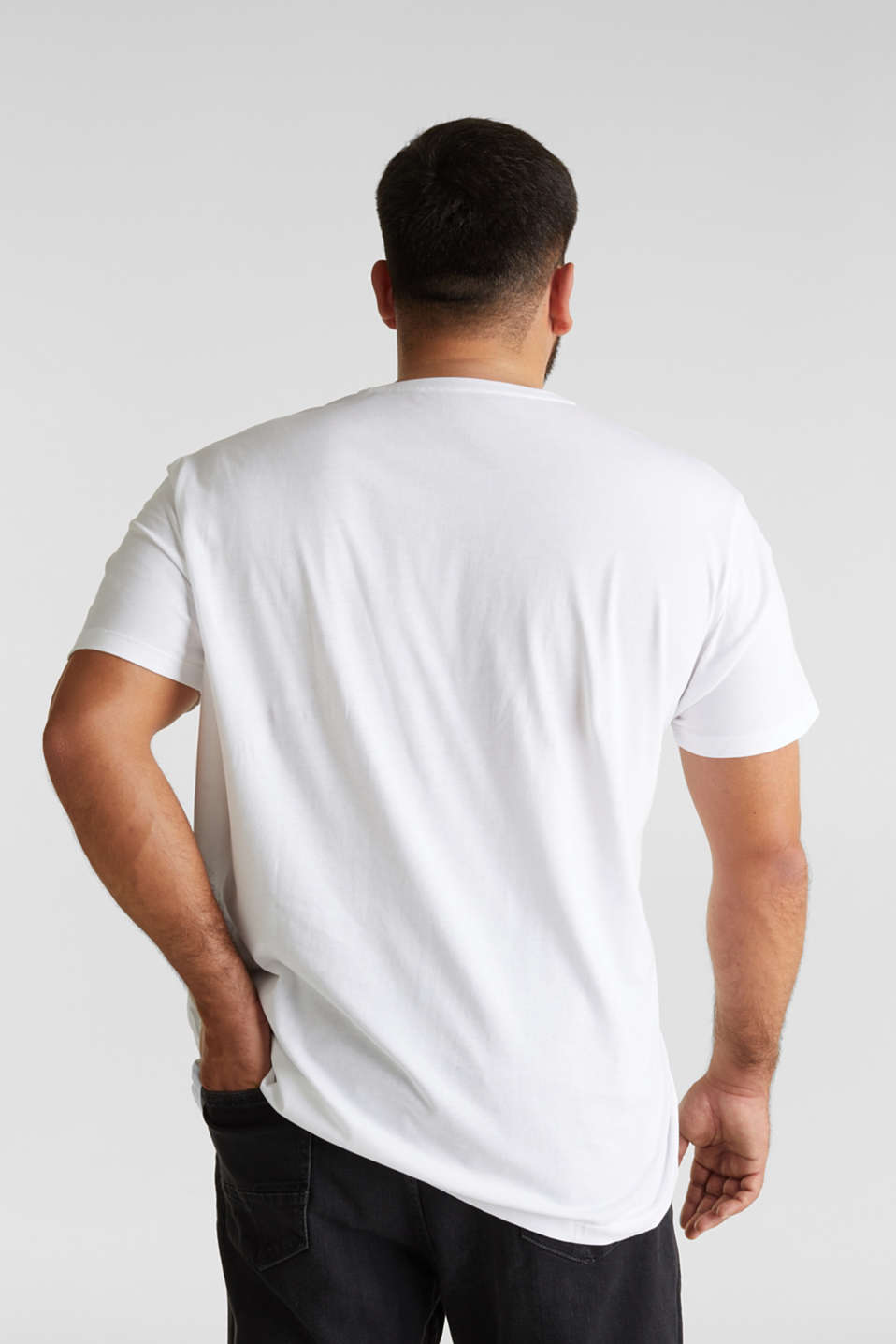Double pack of T-shirts, 100% organic cotton, WHITE 3, detail image number 3