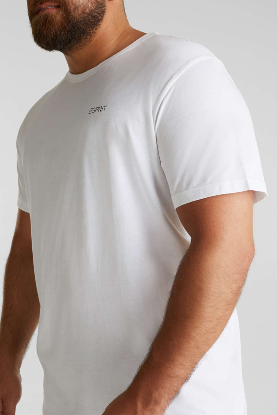 Double pack of T-shirts, 100% organic cotton, WHITE 3, detail image number 2