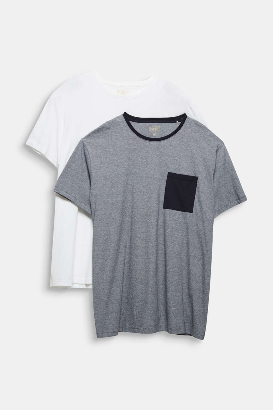 Double pack of T-shirts, 100% organic cotton, WHITE 3, detail image number 6