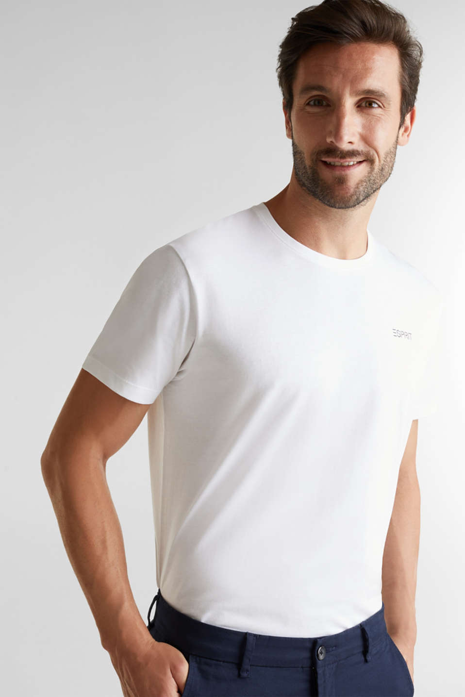 Esprit - Set van 2 jersey shirts, 100% organic cotton