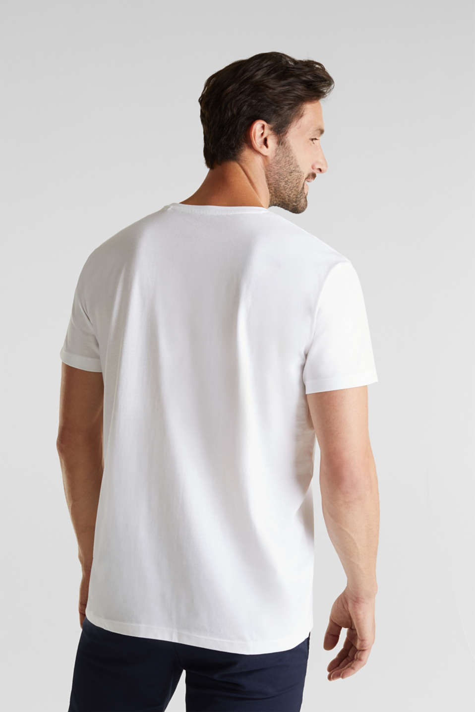 Double pack of jersey tops, 100% organic cotton, WHITE 3, detail image number 3