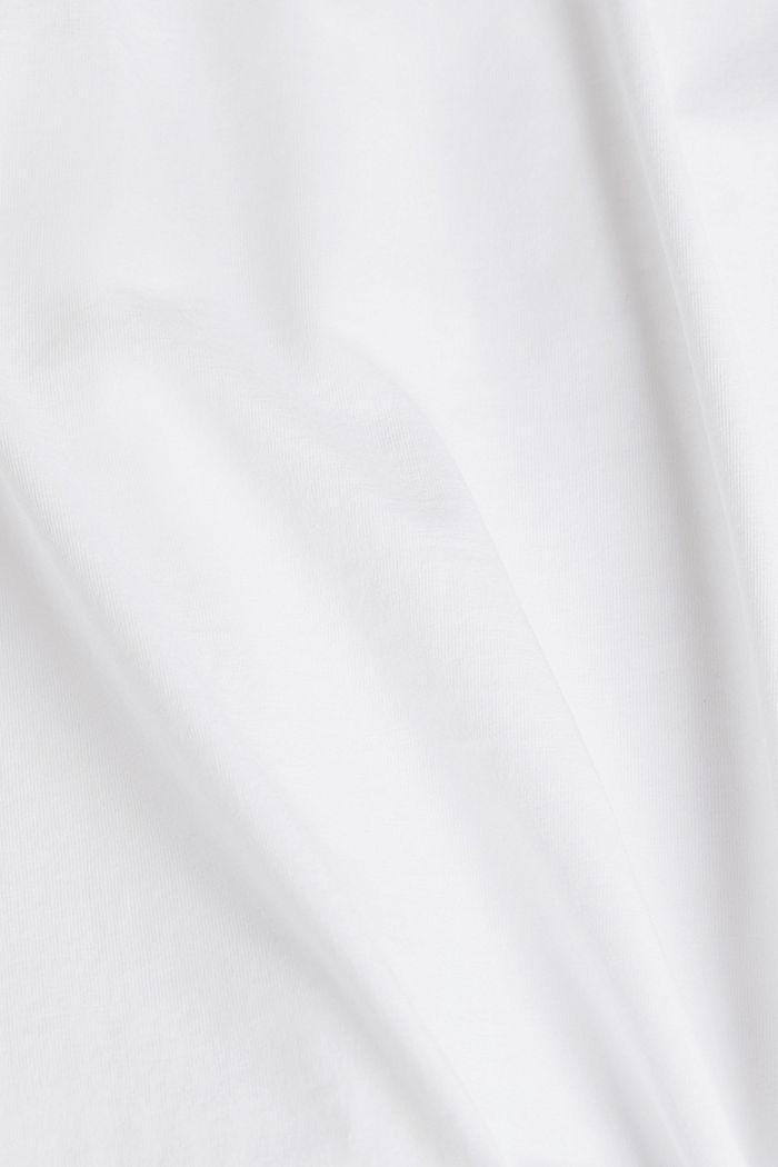 2er-Pack Jersey-Shirts, 100% Organic Cotton, WHITE, detail image number 4