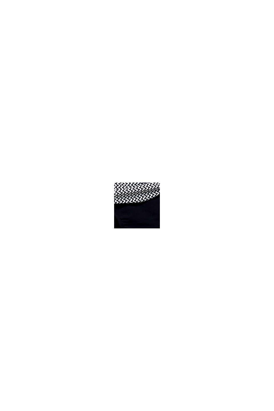 Shaping-miditrosa med minimönster, BLACK, swatch