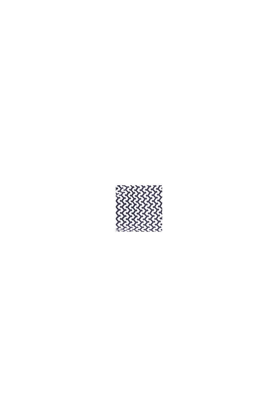 Figuurvormend badpak met kleine print, BLACK, swatch