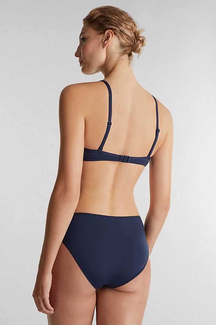 Push-up top with woven details, NAVY, detail image number 1