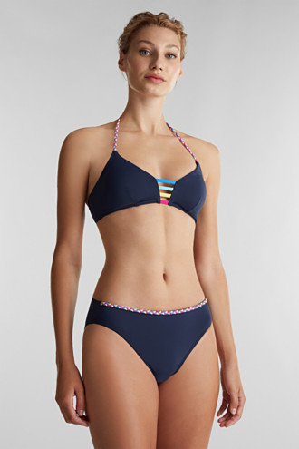 Padded top with multi-colour details