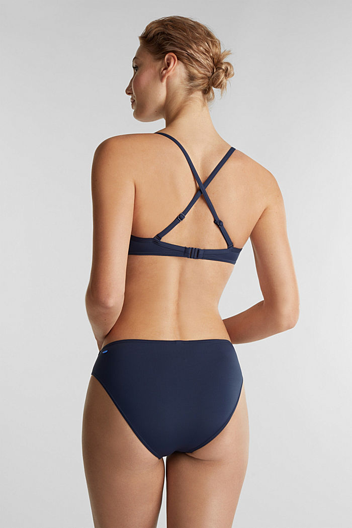 Midi bikini bottoms with a multi-colour trim, NAVY, detail image number 2