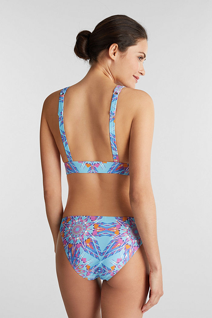 Padded bikini top with a print, LIGHT TURQUOISE, detail image number 1