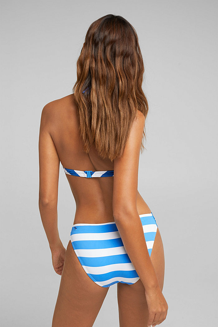 Top con tiras al cuello sin relleno y con rayas, BRIGHT BLUE, detail image number 1