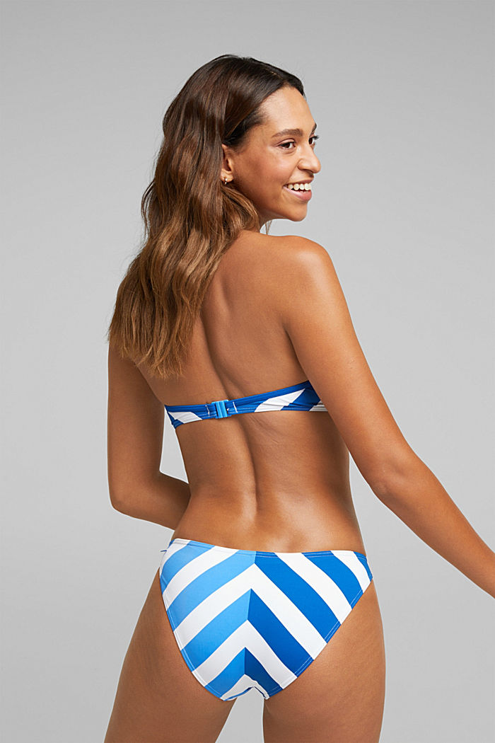Padded crop top with stripes, BRIGHT BLUE, detail image number 1