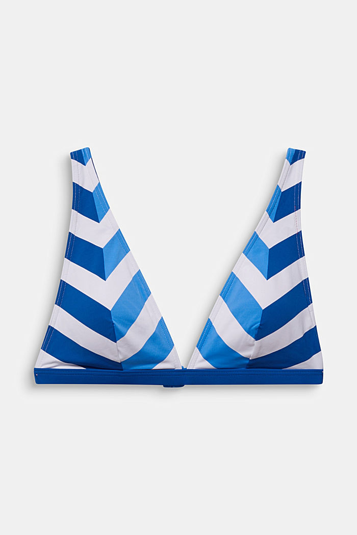 Padded top with stripes, BRIGHT BLUE, detail image number 4