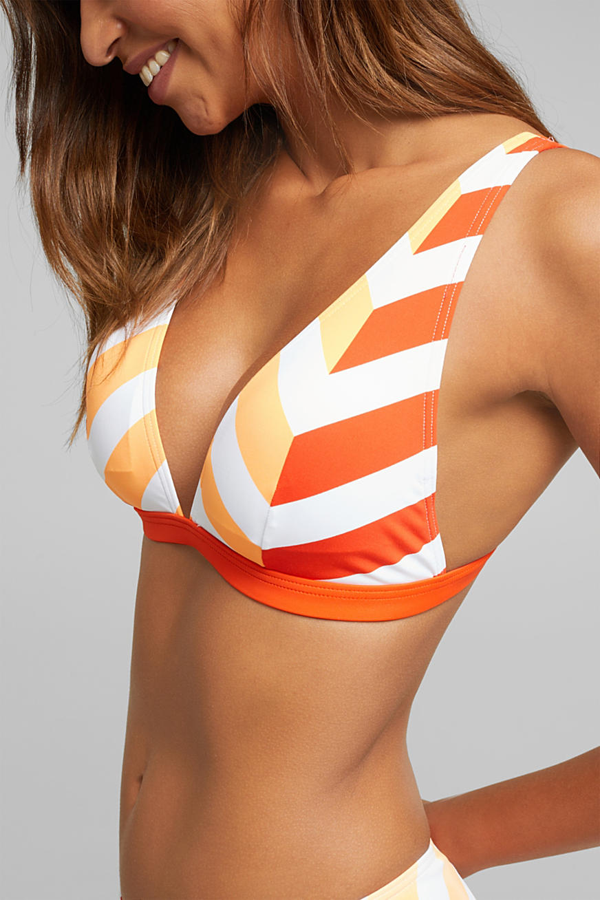 Padded top with stripes
