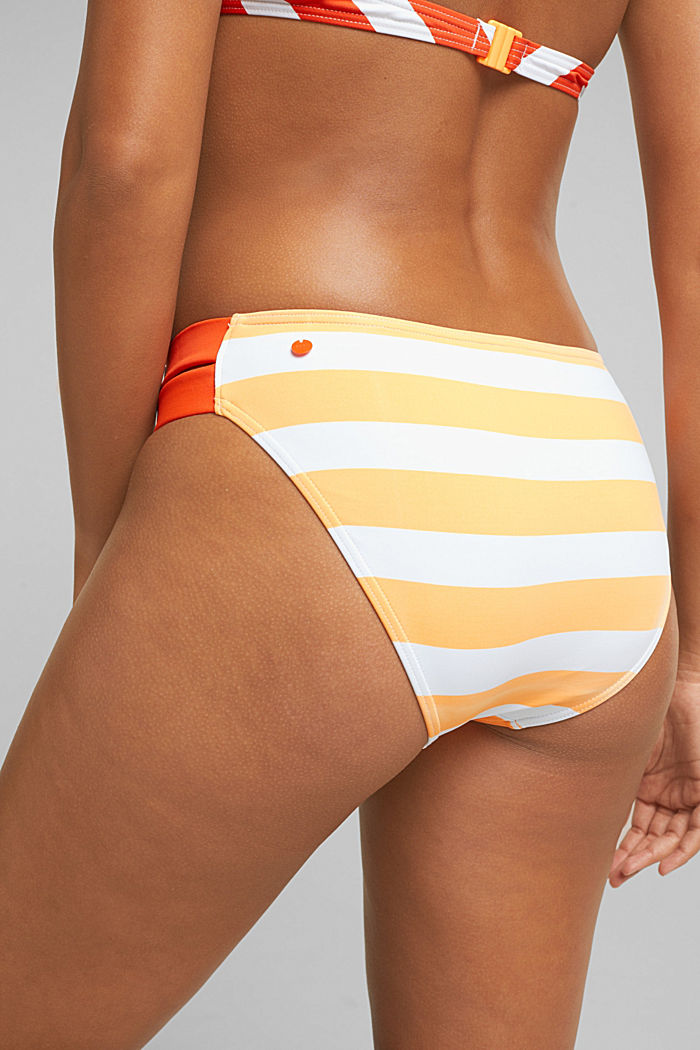 Briefs with stripes, CORAL ORANGE, detail image number 1