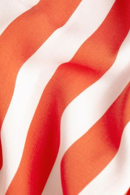 Striped print dress, CORAL ORANGE, detail
