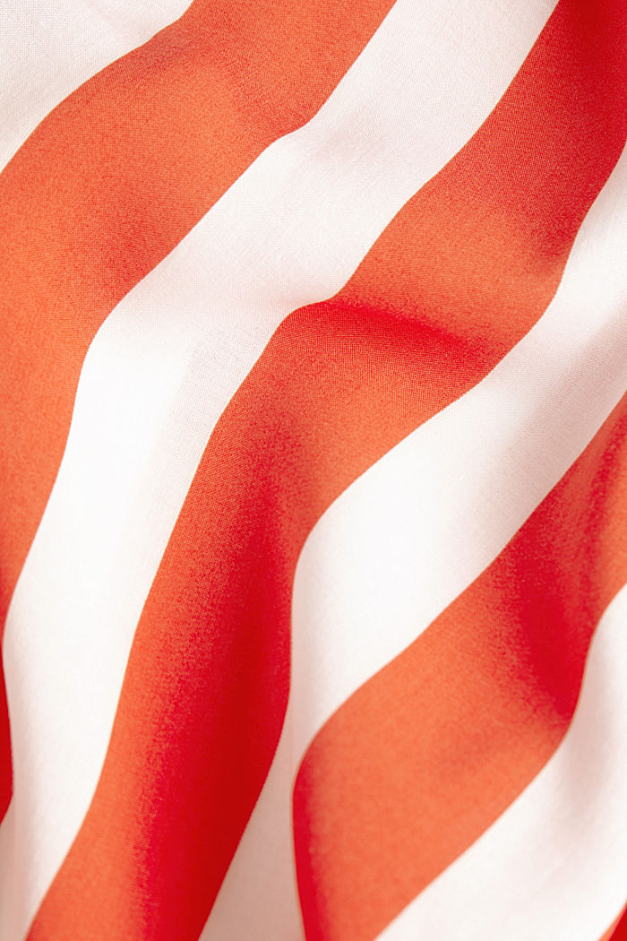 Striped print dress, CORAL ORANGE, detail image number 5
