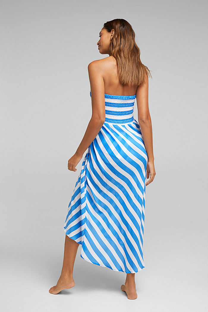 Beach dress with a smocked bustier, BRIGHT BLUE, detail image number 1