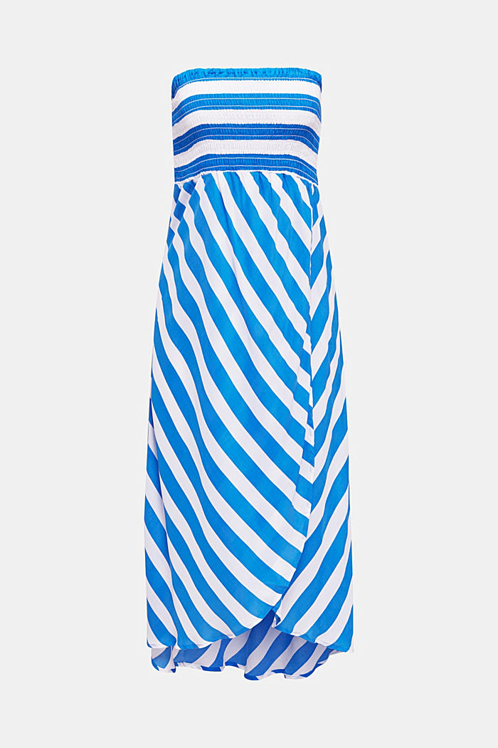 Beach dress with a smocked bustier, BRIGHT BLUE, detail image number 2