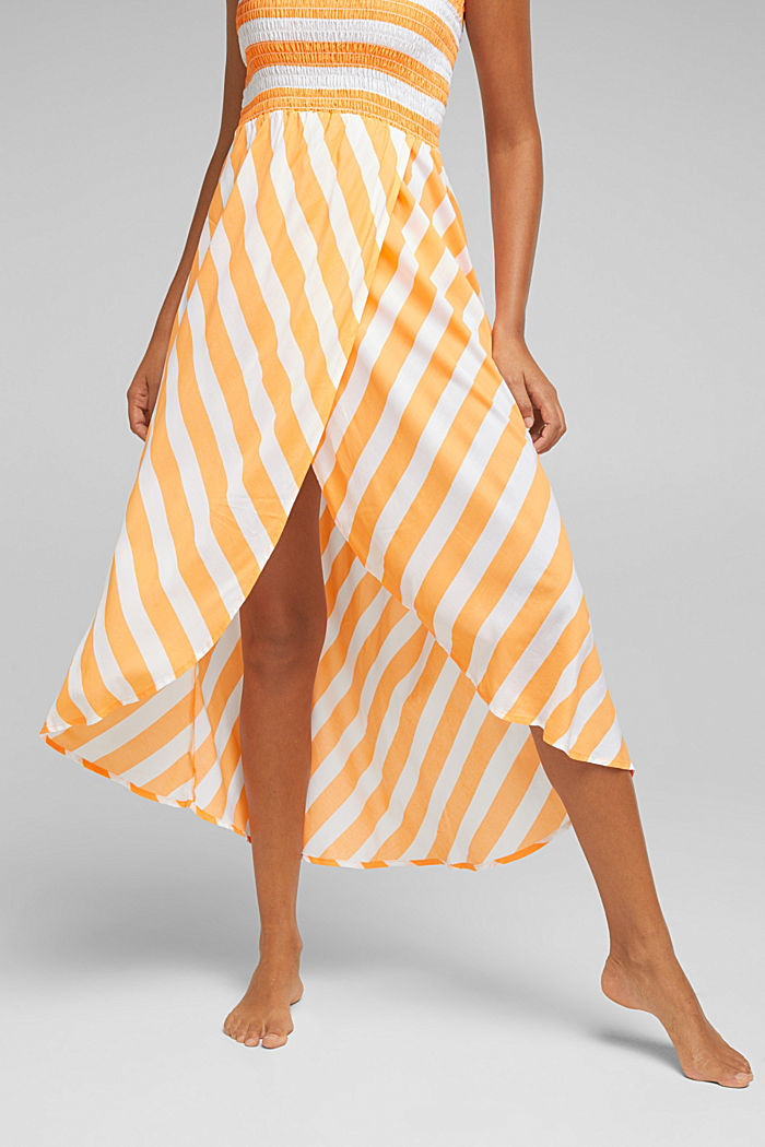 Beach dress with a smocked bustier, CORAL ORANGE, detail image number 2