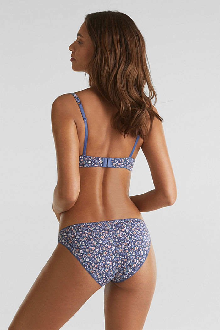 Hipster briefs with a floral print, BLUE LAVENDER, detail image number 2