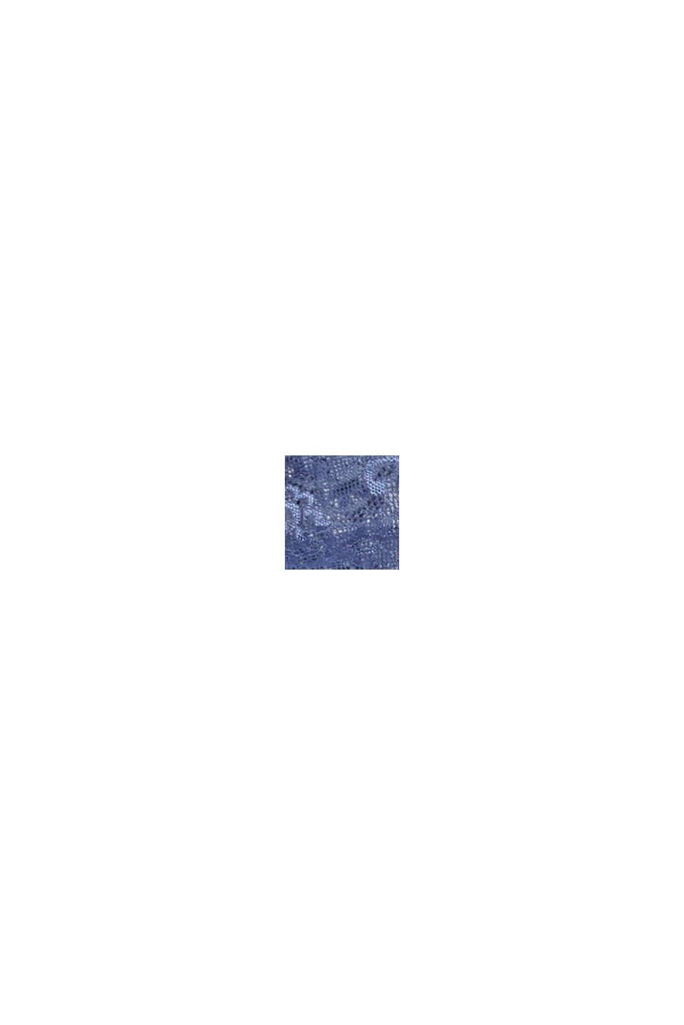 Hipsterhousut mattaisen kiiltävää pitsiä, BLUE LAVENDER, swatch