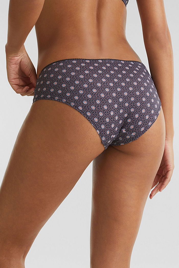 Hipster shorts with a mini print, NAVY, detail image number 1