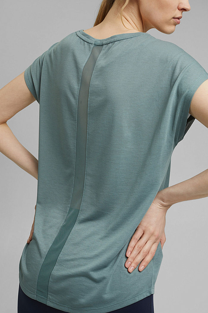 Active top with mesh inserts, DUSTY GREEN, detail image number 5