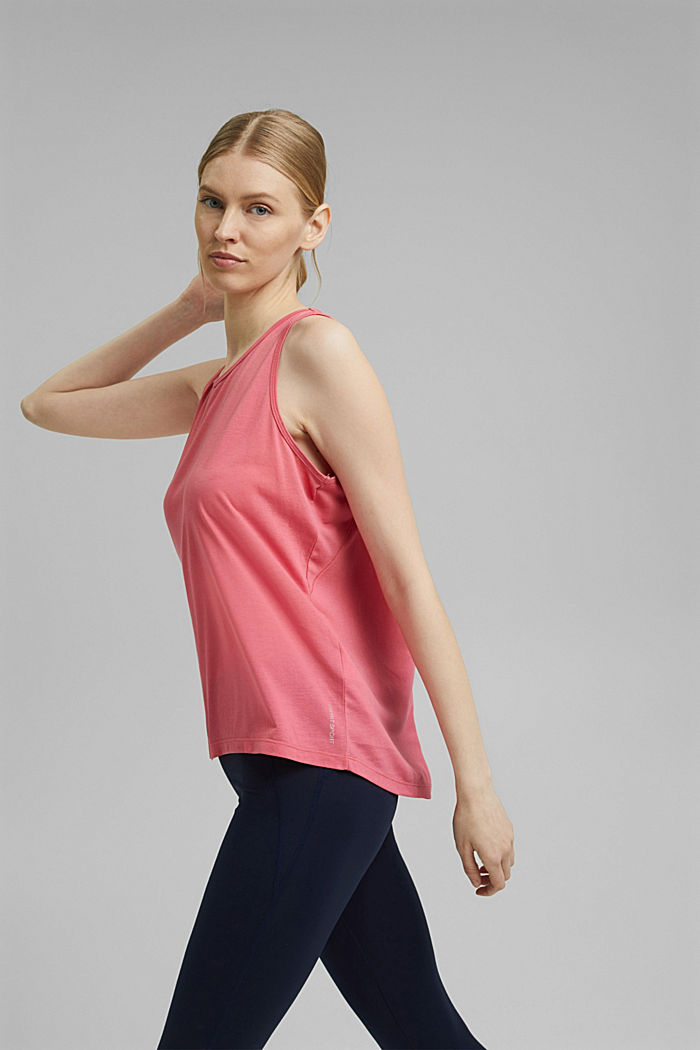 Active top with a mesh detail on the back, CORAL RED, detail image number 5