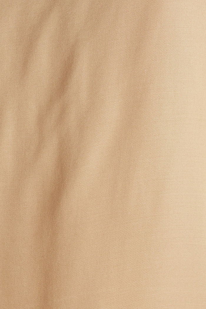Blouse top made of satin with LENZING™ ECOVERO™, BEIGE, detail image number 4