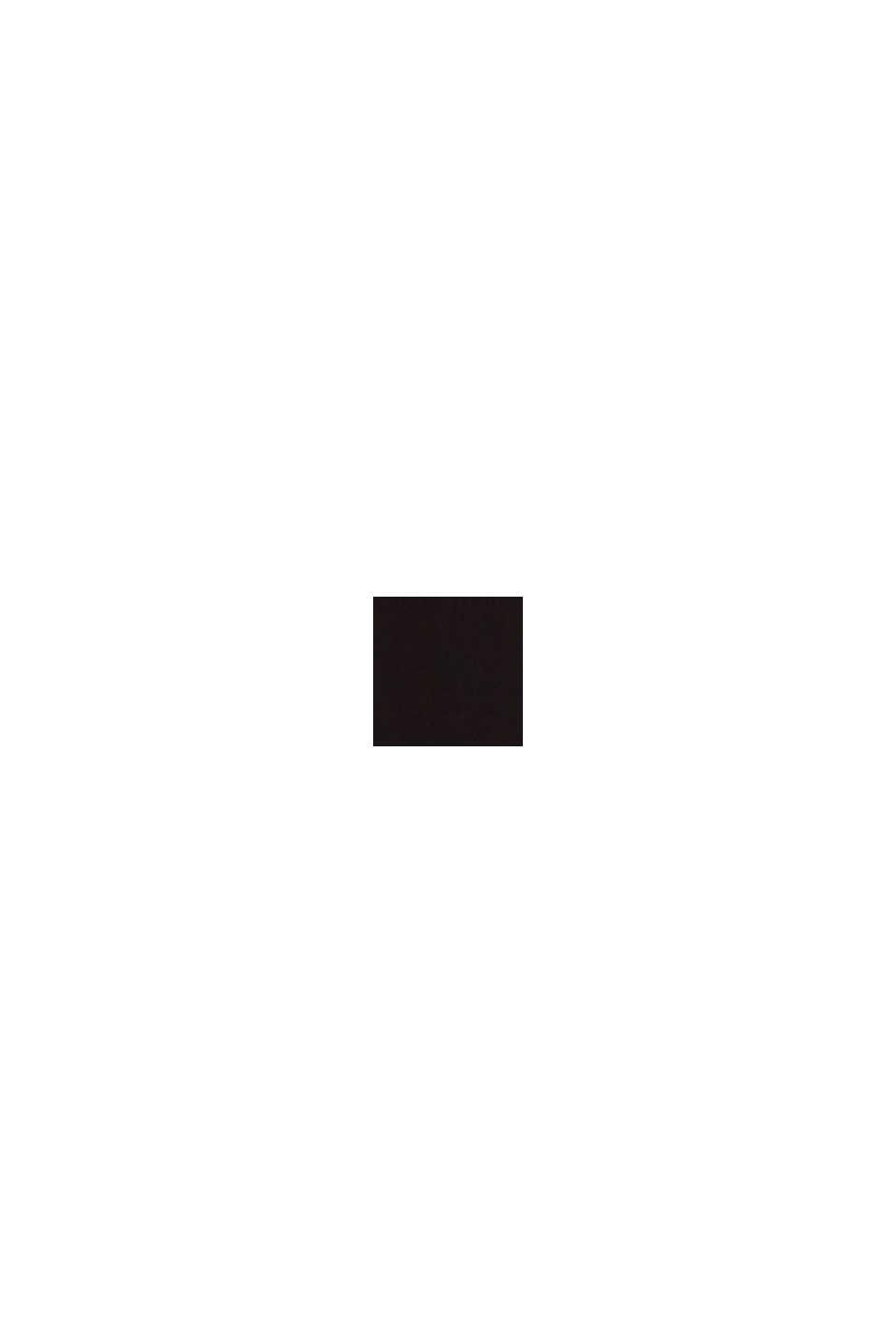 Blouse met V-hals van LENZING™ ECOVERO™, BLACK, swatch