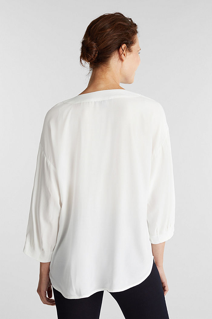 V-neck blouse made of LENZING™ ECOVERO™, OFF WHITE, detail image number 3