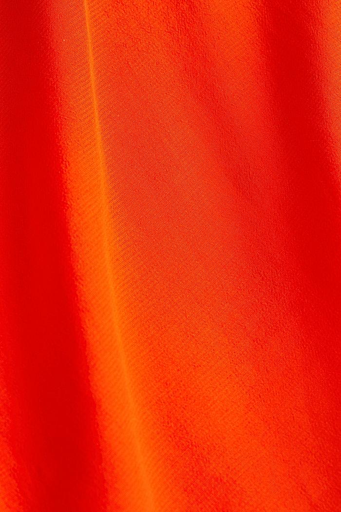 V-neck blouse made of LENZING™ ECOVERO™, RED ORANGE, detail image number 4