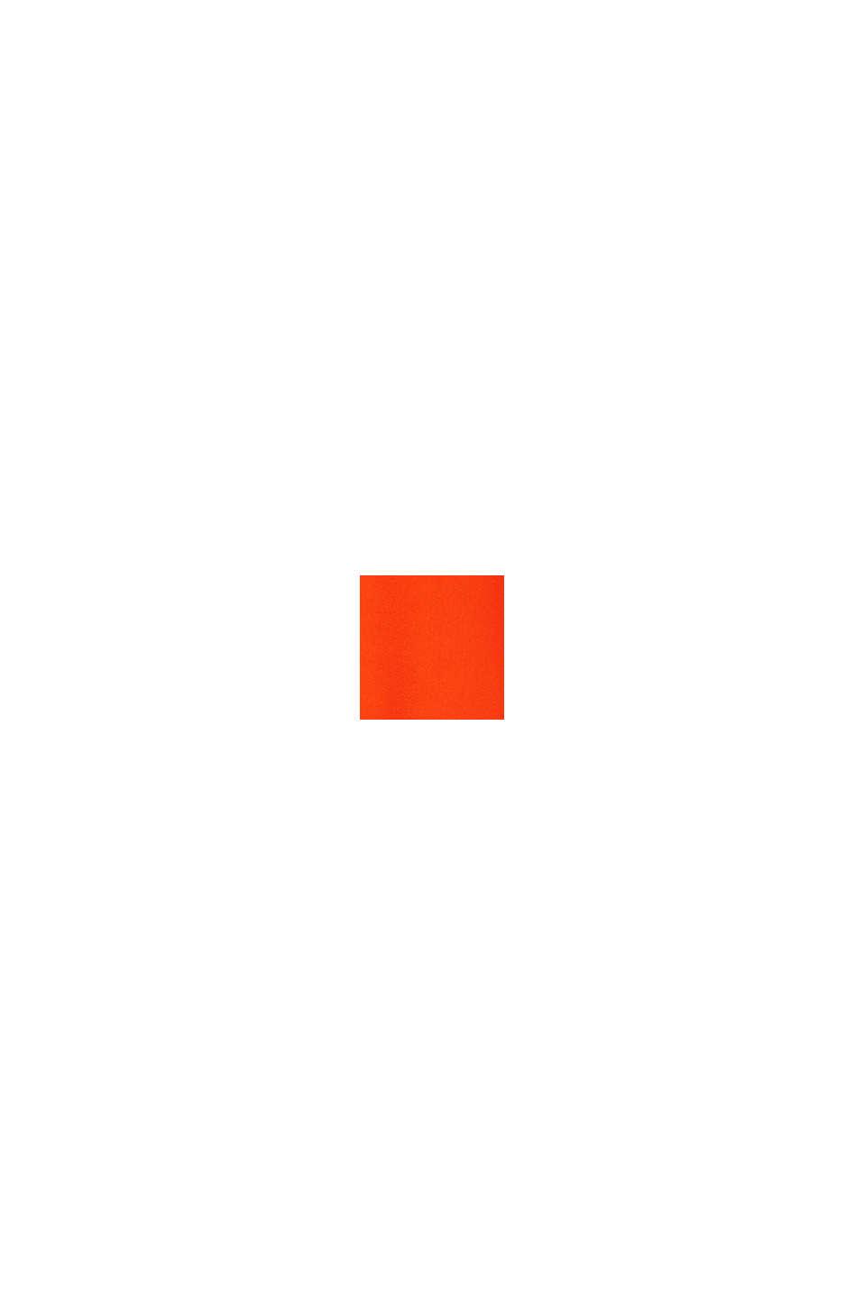 Blouse met V-hals van LENZING™ ECOVERO™, RED ORANGE, swatch