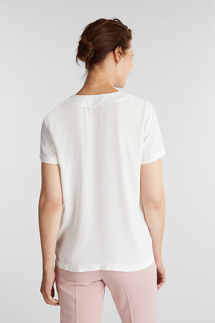 Blouse top with a V-neckline, OFF WHITE, detail image number 3