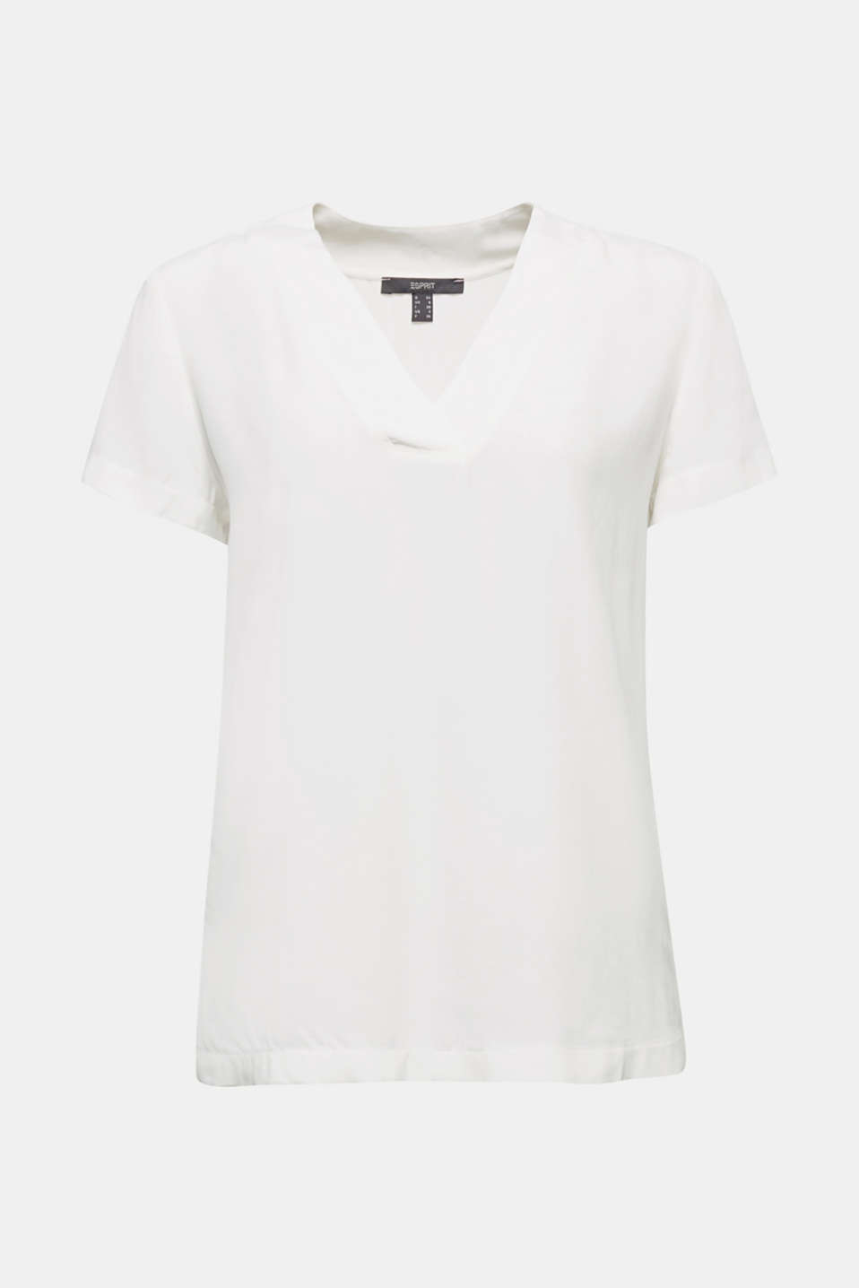 Blouse top with a V-neckline, OFF WHITE, detail image number 6