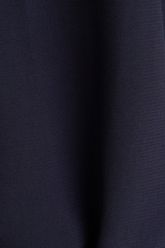 Blouse top with a V-neckline, NAVY, detail image number 4