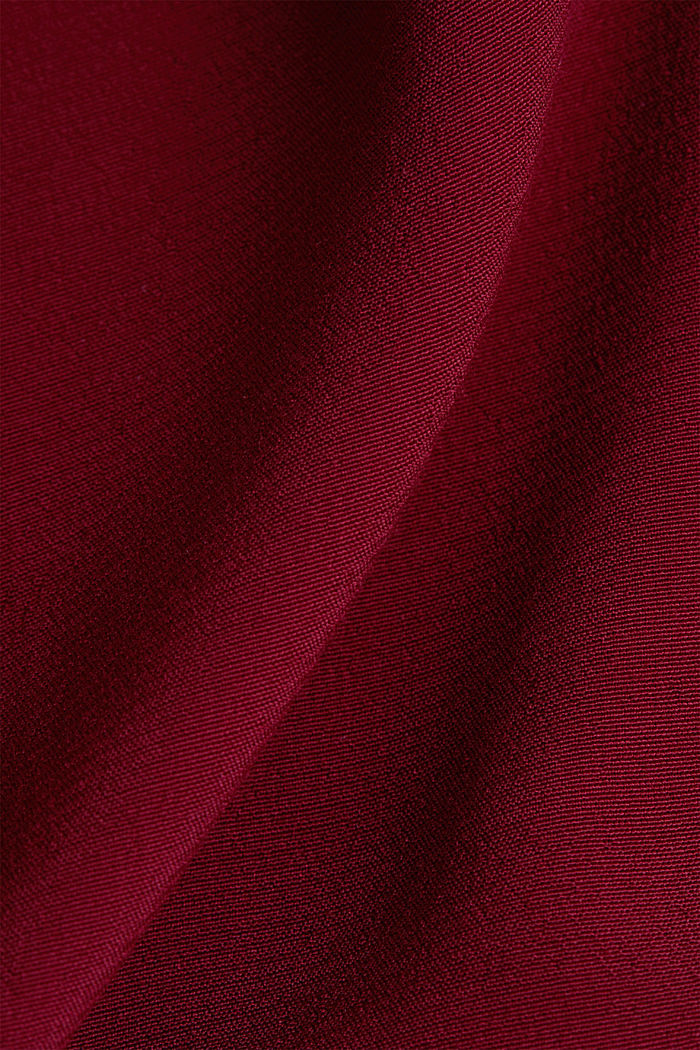 Blouse top with a V-neckline, BORDEAUX RED, detail image number 4
