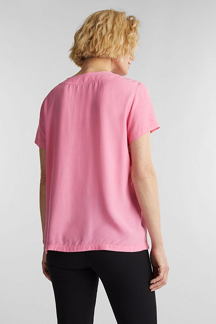 Blouse top with a V-neckline, PINK, detail image number 3