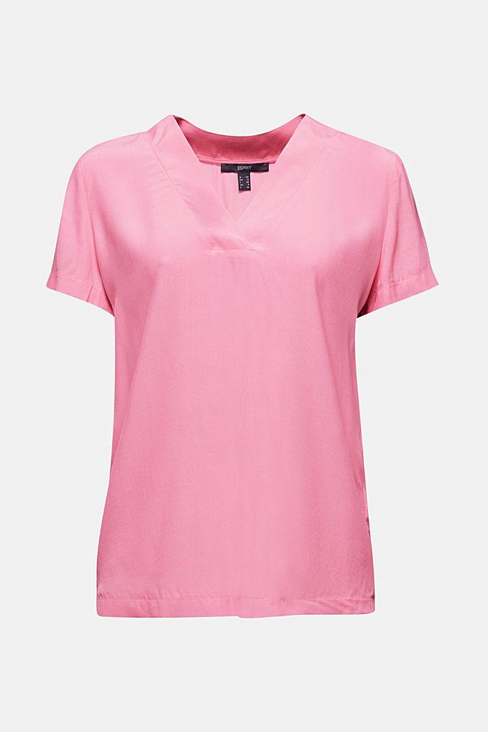 Blouse top with a V-neckline, PINK, detail image number 6