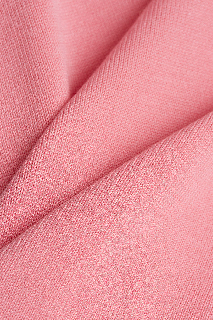 Fine knit top with wavy edges, PINK, detail image number 4
