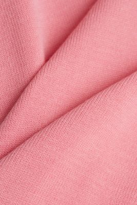 Fine knit top with wavy edges, PINK, detail