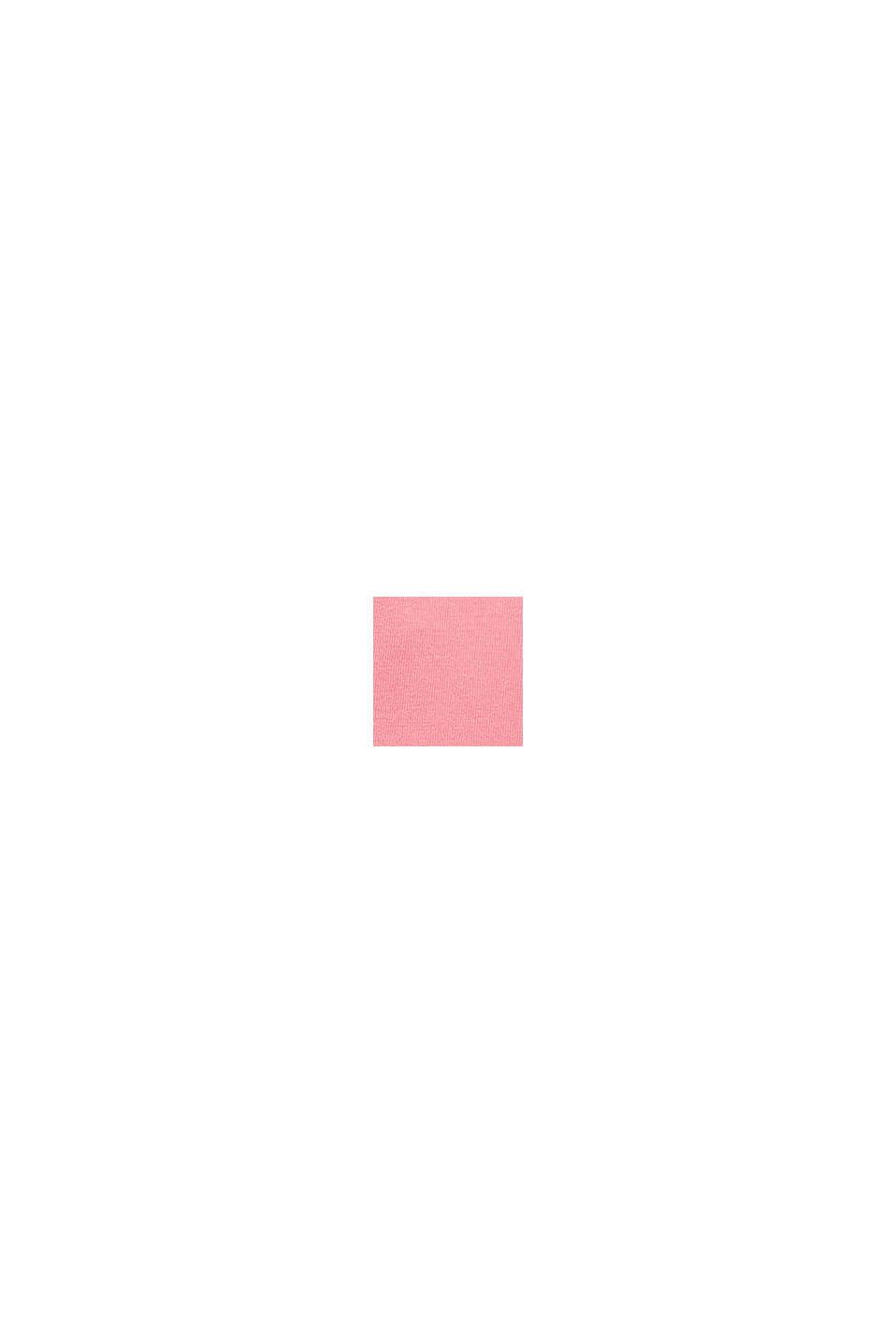 Feinstrick-Top mit Wellenkanten, PINK, swatch