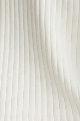 Blended lyocell: TENCEL™: Ribbed cardigan, OFF WHITE, detail