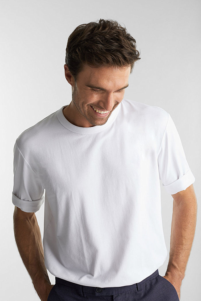 Jersey T-shirt with COOLMAX®, WHITE, detail image number 0