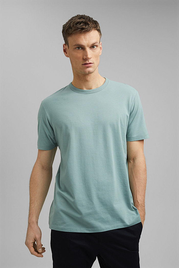 Jersey T-shirt with COOLMAX® technology, DUSTY GREEN, detail image number 0