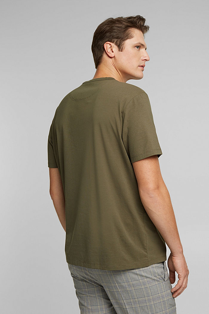 Jersey T-shirt with COOLMAX®, DARK KHAKI, detail image number 3