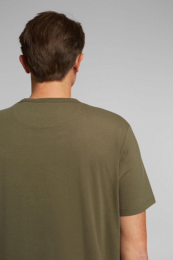 Jersey-Shirt mit COOLMAX®, DARK KHAKI, detail image number 1