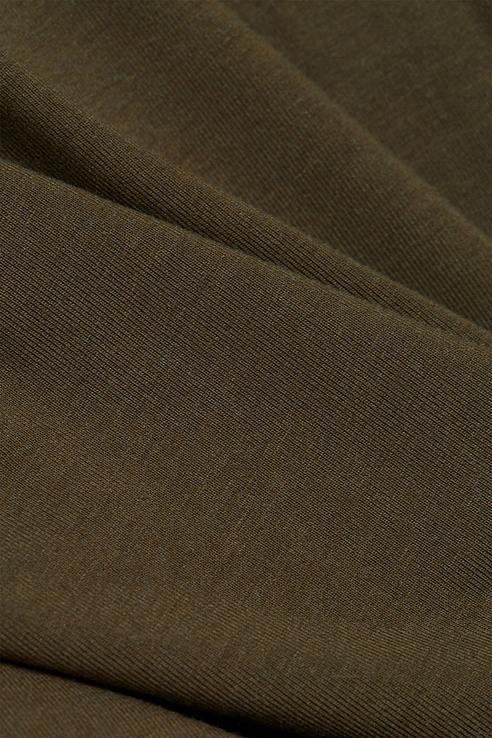 Jersey-Shirt mit COOLMAX®, DARK KHAKI, detail image number 4