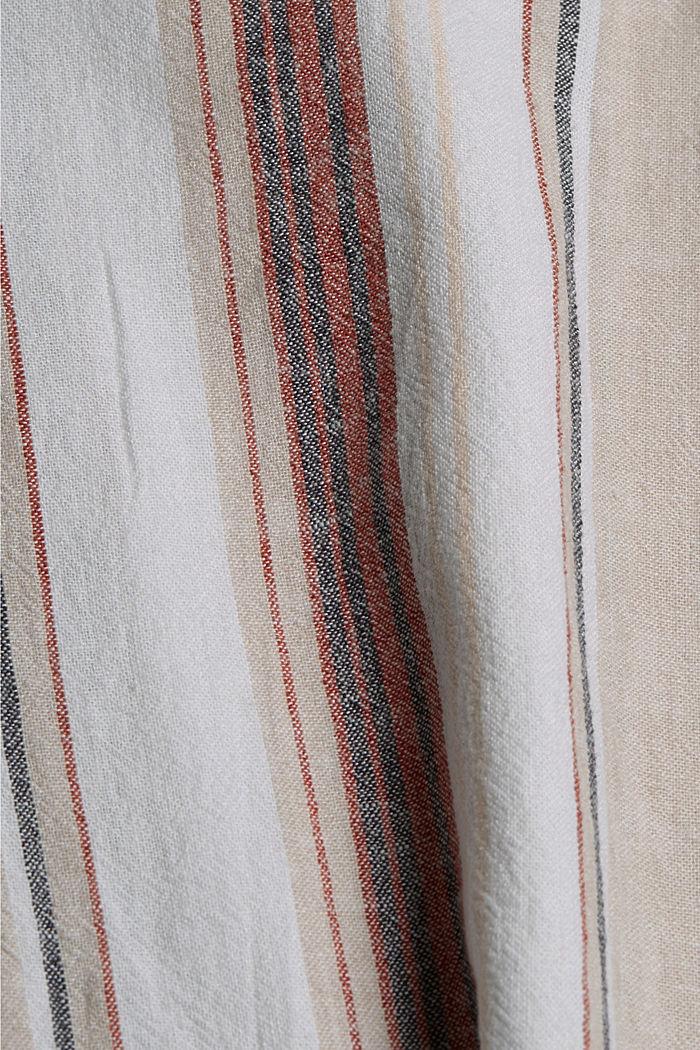 Aus Leinen-Mix: Hose mit Elastikbund, OFF WHITE, detail image number 4